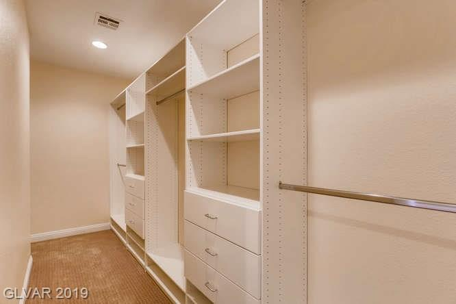 Custom closet in Las Vegas home