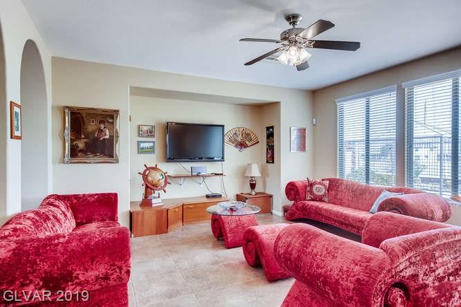 Family room in Aliante home in North Las Vegas