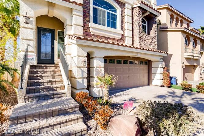 Entry for home at 10759 Meridian Mills Road, Las Vegas, Nevada 89052
