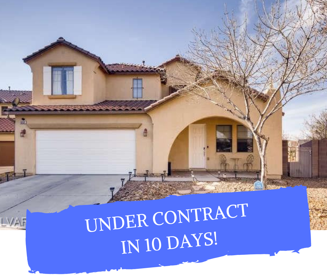 Las Vegas home sold MLS #2168112 - UNDER CONTRACT AFTER 10 DAYS!