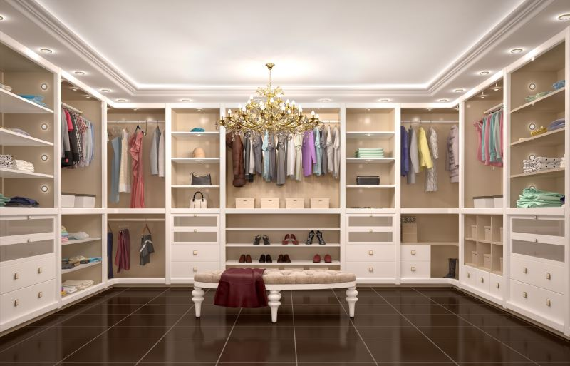 custom closet in new Las Vegas homes