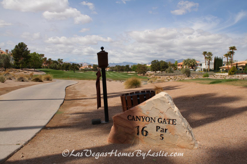 Golf Course Communities in Las Vegas - Canyon Gate Homes for Sale