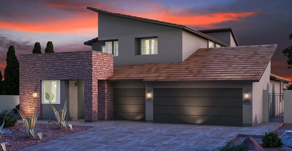 "Lennar home model ""Aspen"" in Graycliff at Stonebridge in Summerlin"