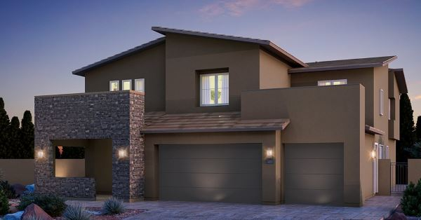 "Lennar home model ""Mahogany"" in Graycliff at Stonebridge in Summerlin"