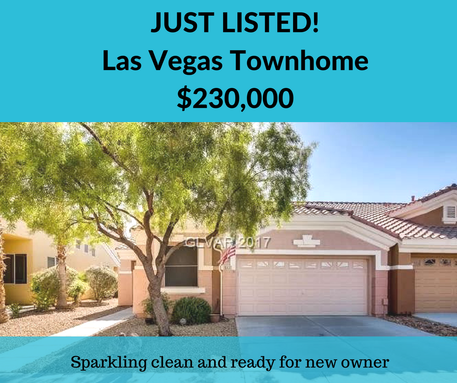 Las Vegas townhome just listed, $230k