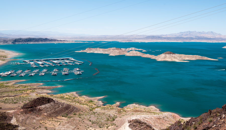 Lake Mead in Clark County, Nevada