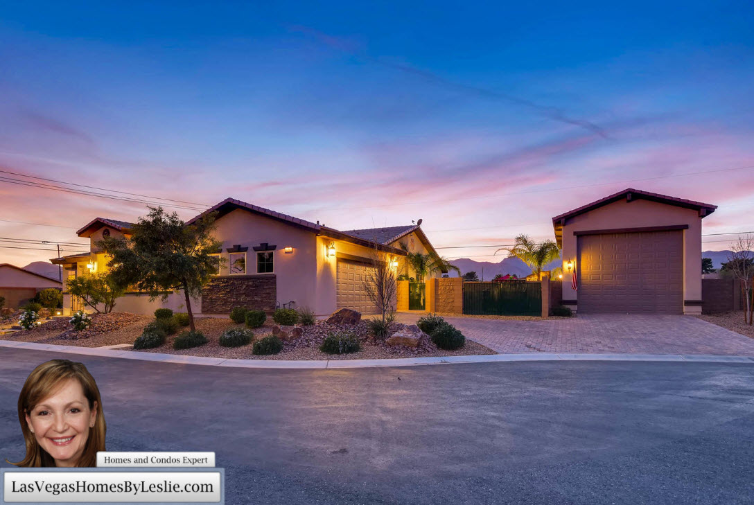 Las Vegas Home for Sale with RV Parking Garage
