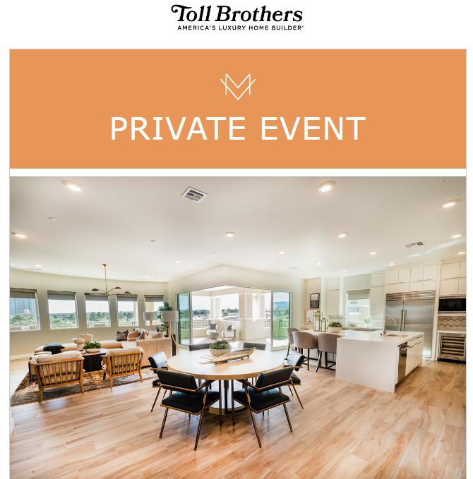 Invitation to tour of Mira Villa penthouse on June 19/21