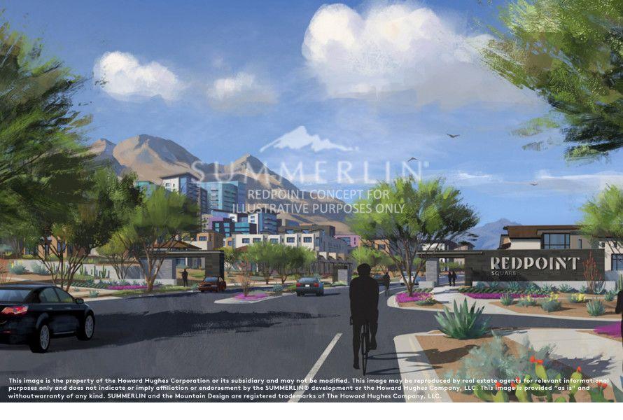 Rendering of Redpoint Square urban village in Summerlin, Las Vegas, NV