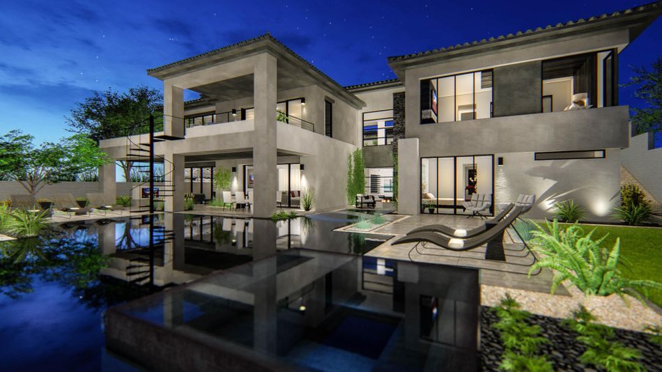 Home in The Bluffs, Southern Highlands, by Blue Heron Las Vegas builder