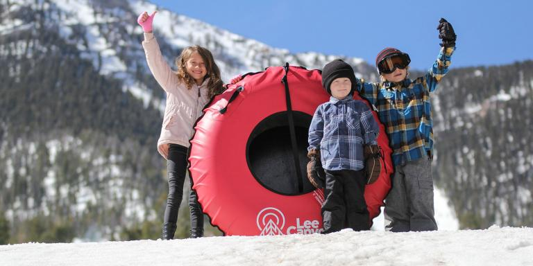 Snow tubing in Lee Canyon
