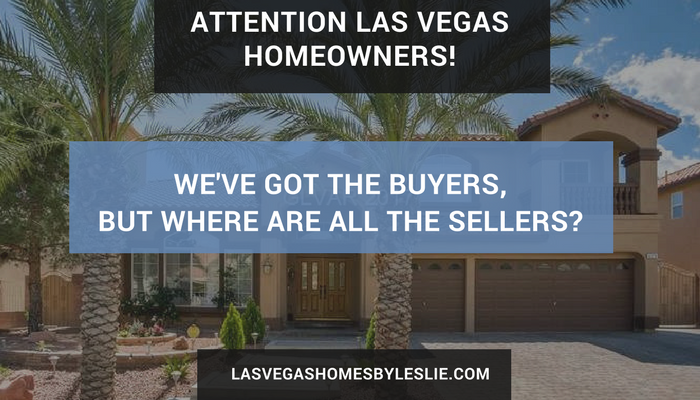 Vegas home buyers need sellers