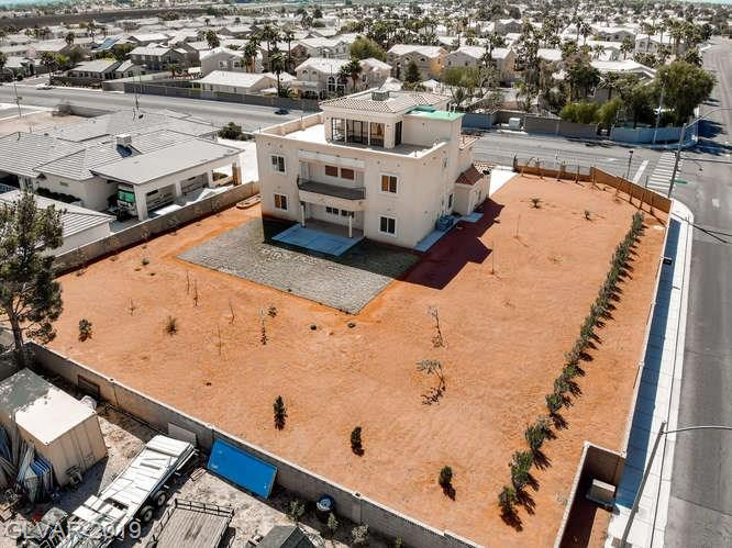 Backyard aerial view