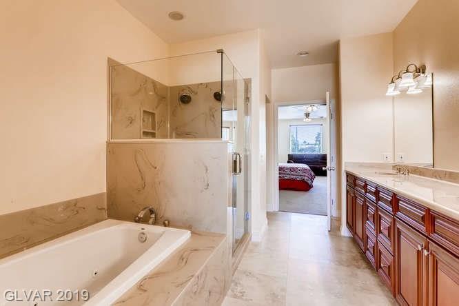 Master bath in Las Vegas home.
