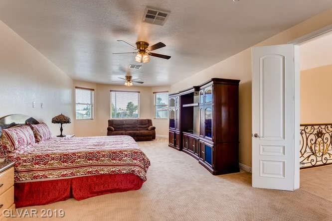 Master bedroom in Las Vegas home.