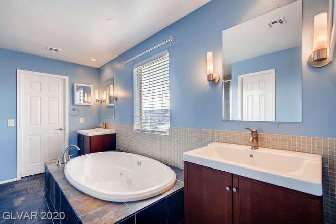 Master bathroom in Las Vegas home