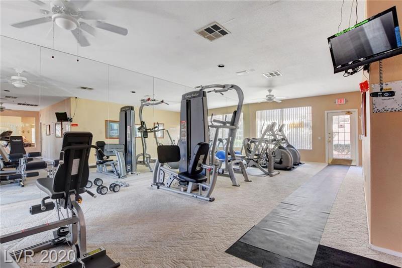 Community fitness center at Southpark condo Las Vegas