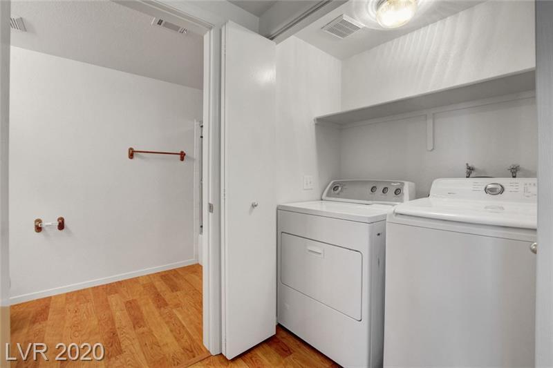 Laundry room in Southpark condo Las Vegas