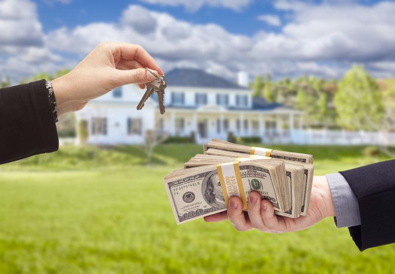 Cash home sale