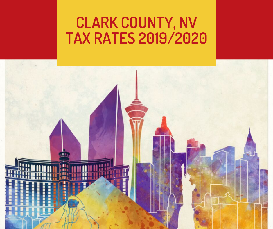 Clark County, NV tax rates for 2019-2020