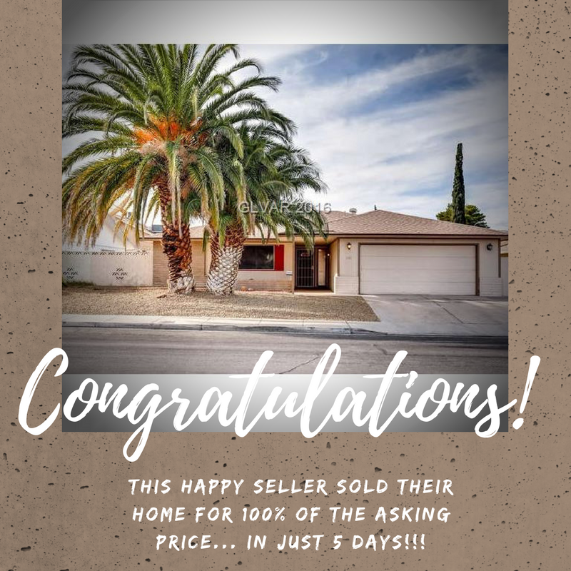 Las Vegas home sale by Leslie Hoke, Realtor