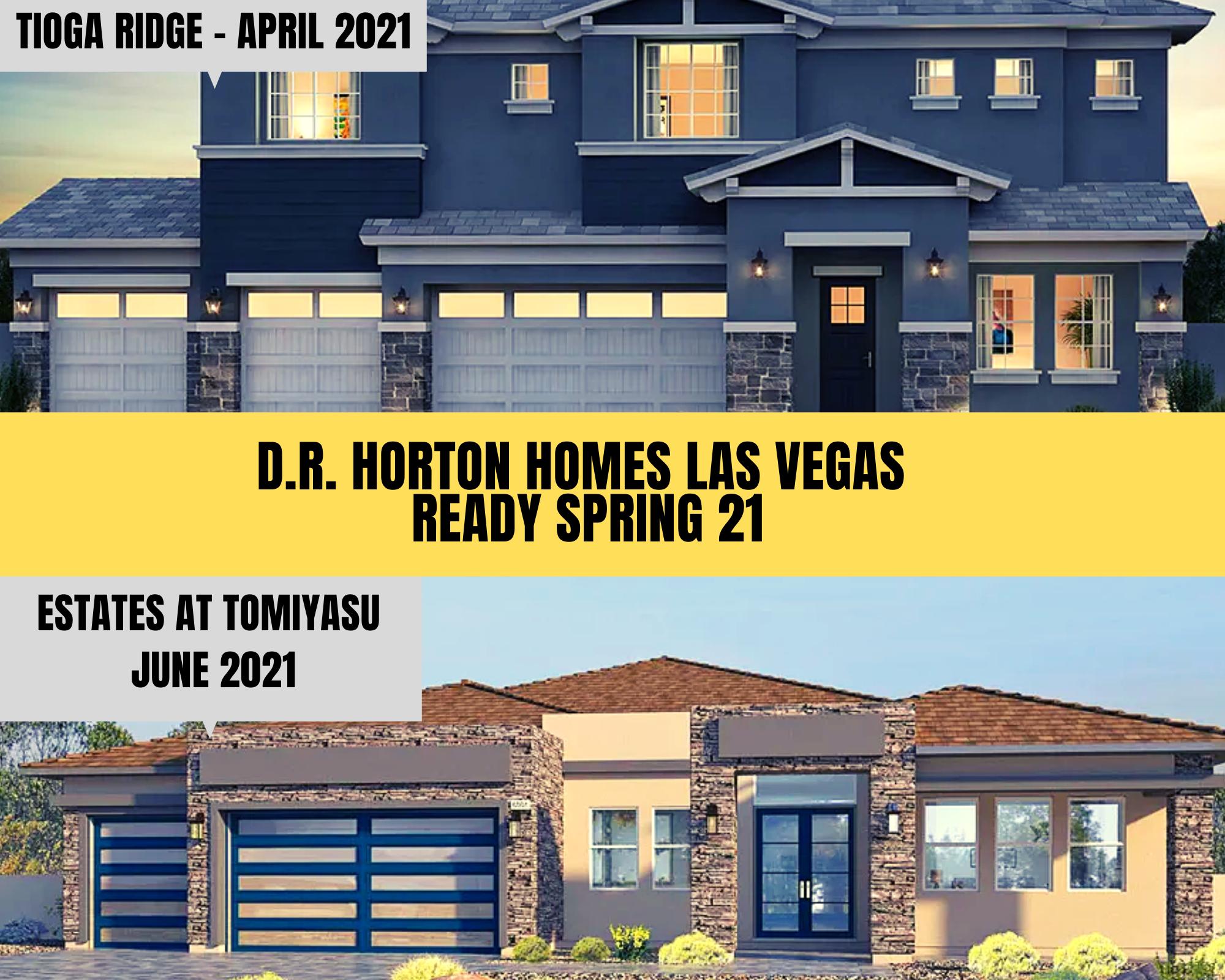 D.R. Horton homes Las Vegas ready spring 2021