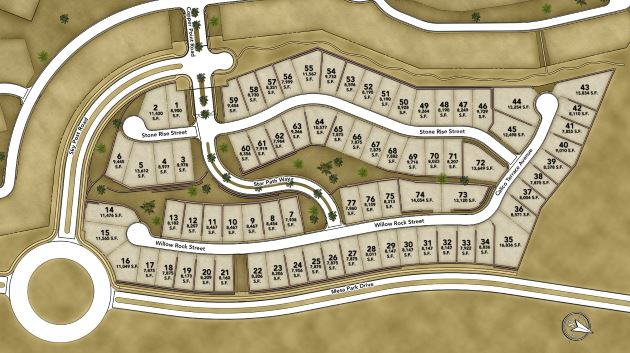 Ironwood Siteplan in The Cliffs at Summerlin