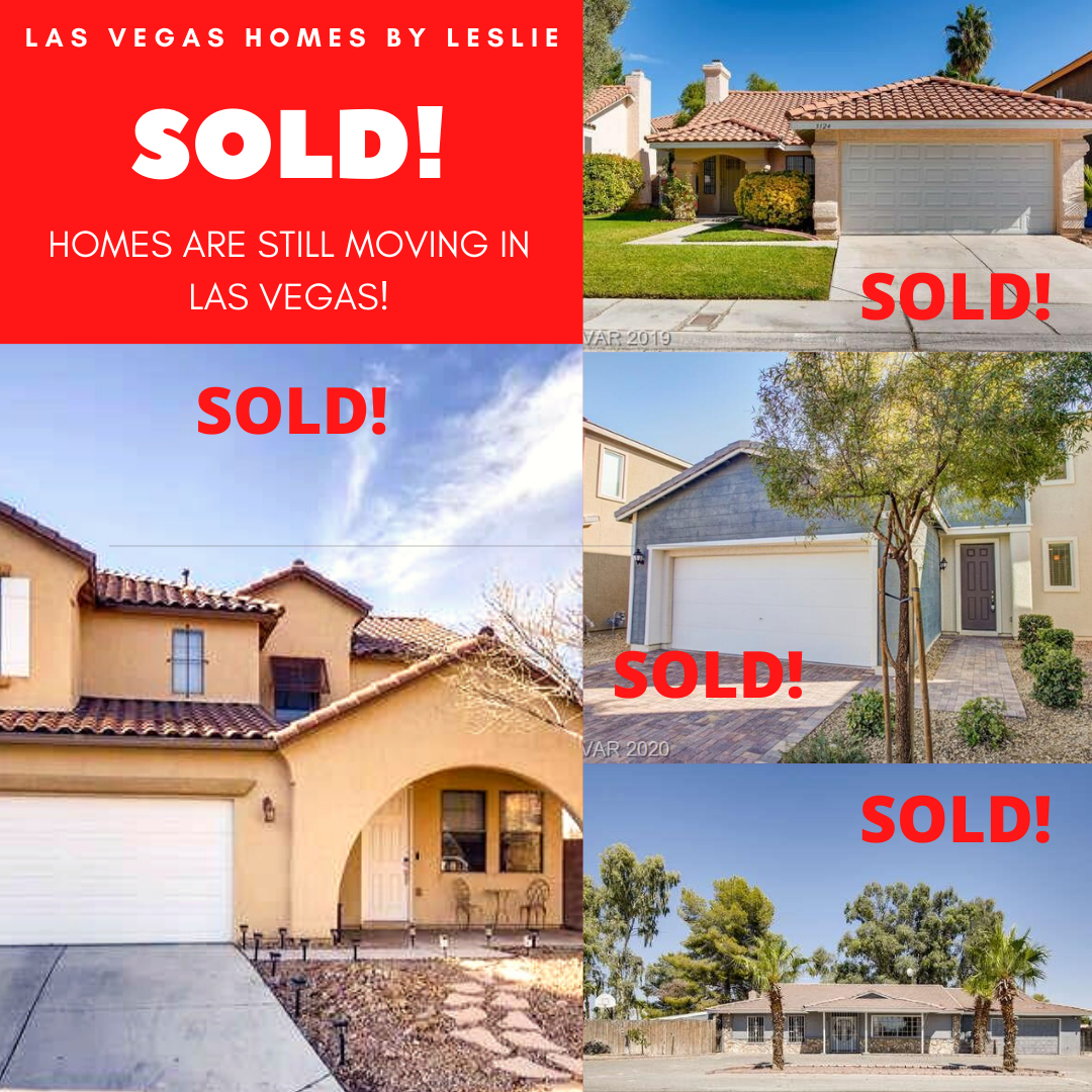 Las Vegas home sales in March 2020 by real estate agent Leslie Hoke