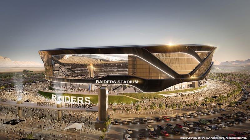 Oakland Raiders Las Vegas stadium rendering
