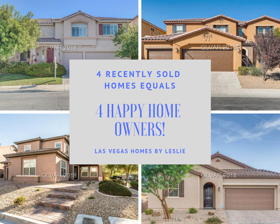 Las Vegas real estate recently sold by Las Vegas Homes by Leslie