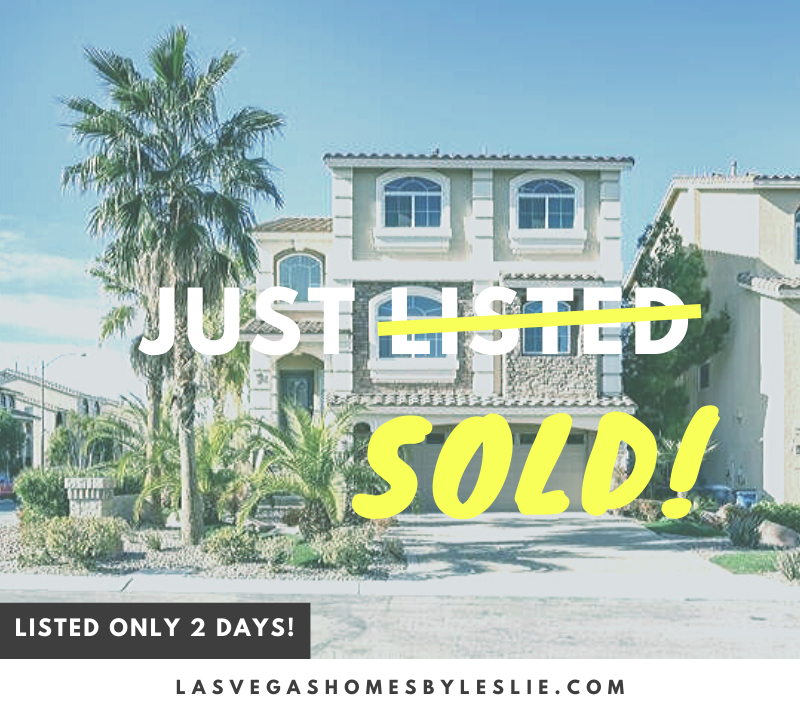 Home sold in Silverado Ranch, Las Vegas, NV