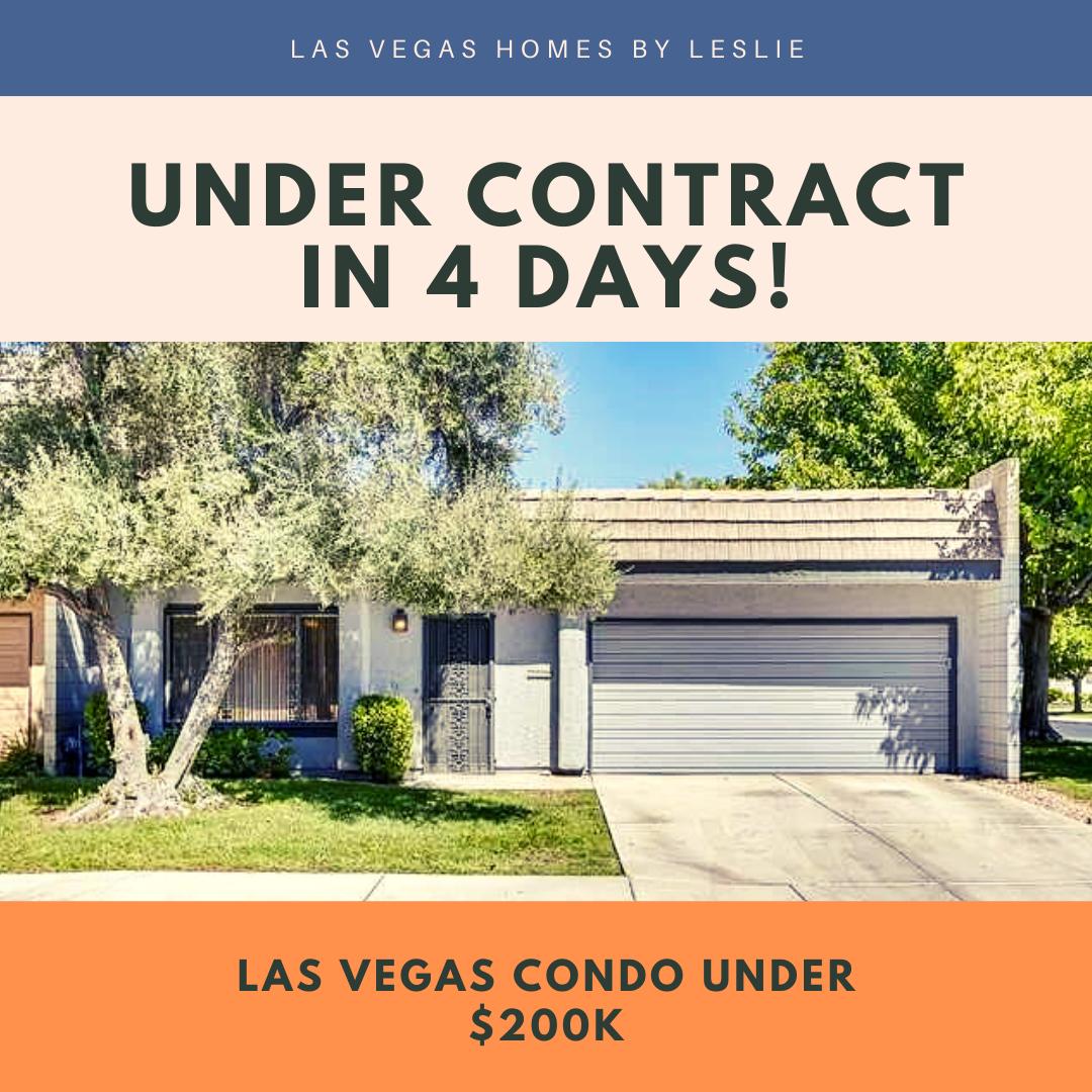 Las Vegas condo under contract in 4 days