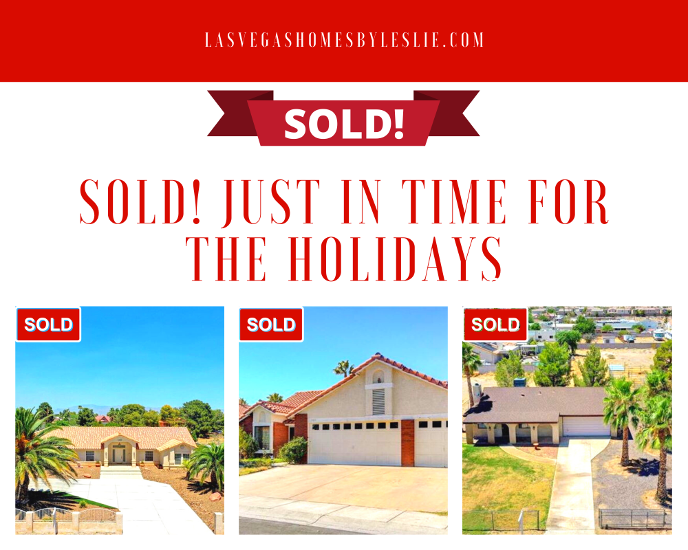 Homes sold by Las Vegas Homes by Leslie just in time for the holidays