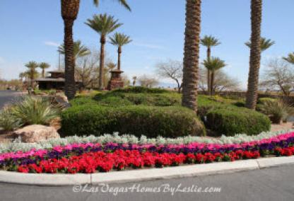 Red Rock Country Club Homes in Las Vegas Entrance Flowers