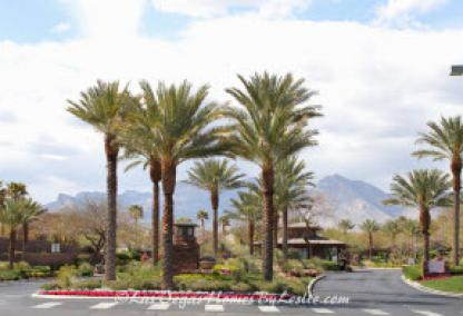 Red Rock Country Club Homes in Las Vegas Entrance