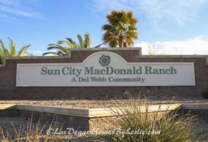 Sun City MacDonald Rach Neighbor Hood Adult Golf Course Community Henderson NV