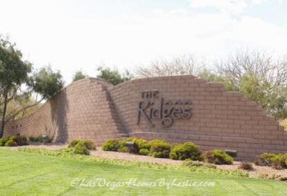 The Ridges Neighborhood Luxury Community Las Vegas