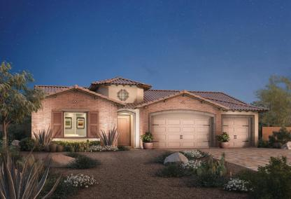 The Alava Toll Brothers house design at Los Altos at Paseos Village in Summerlin, Las Vegas