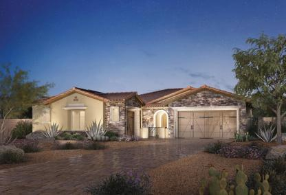 The Malta Toll Brothers house design at Los Altos at Paseos Village in Summerlin, Las Vegas