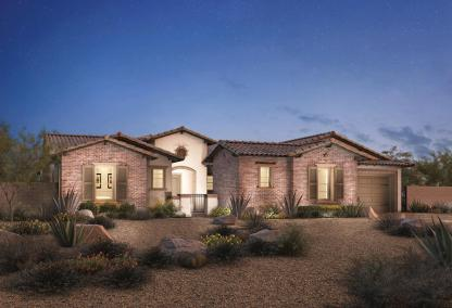 The Taranto Toll Brothers house design at Los Altos at Paseos Village in Summerlin, Las Vegas