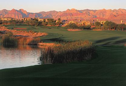 Tournament Players Club view with Red Rock, Summerlin