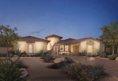 The Verano Toll Brothers house design at Los Altos at Paseos Village in Summerlin, Las Vegas